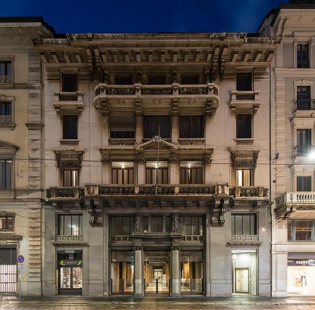 Palazzo storico di via Manzoni a Milano a Merope AM