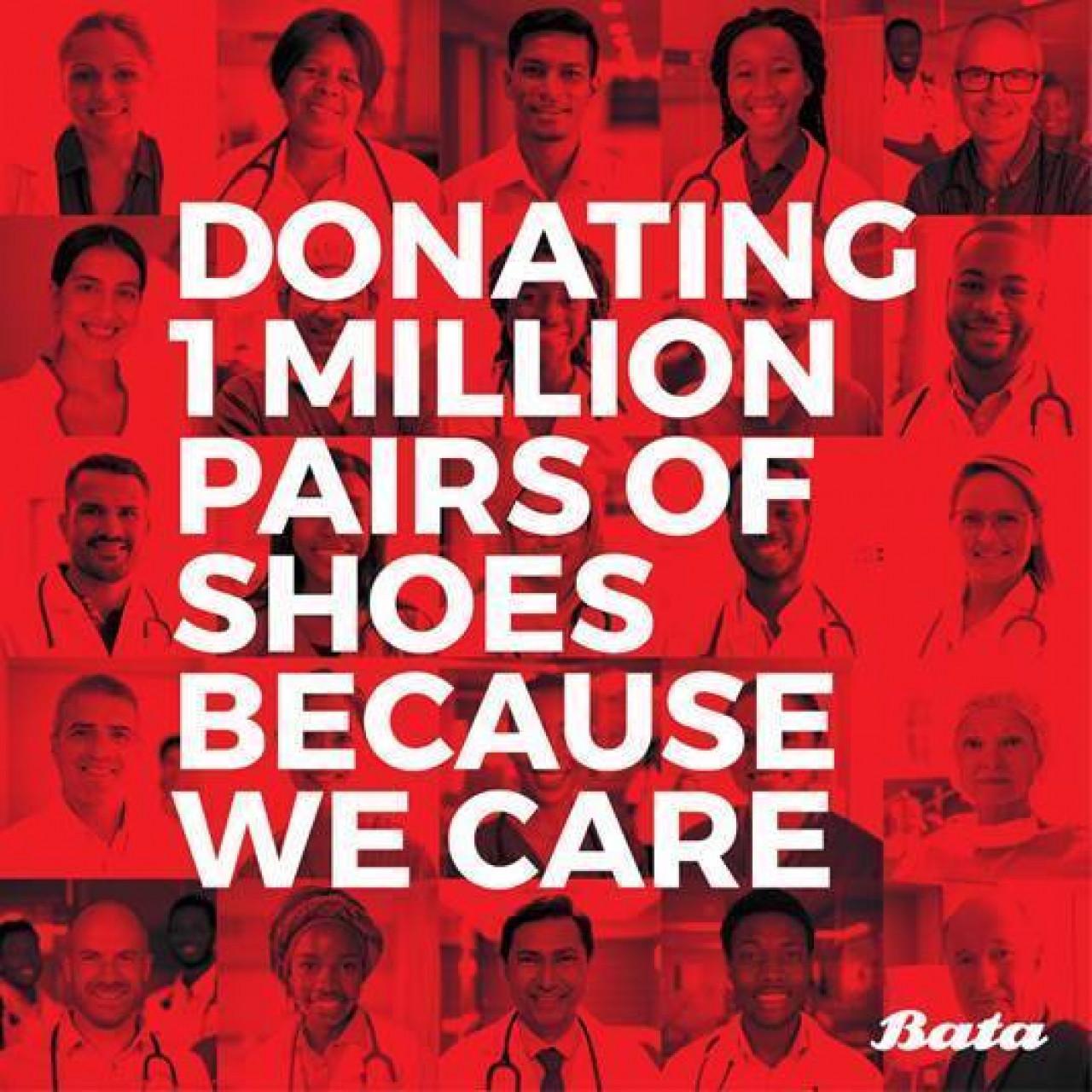 Coronavirus, Bata dona 1 milione di scarpe a operatori sanitari nel mondo