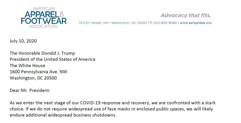 Aafa a Trump, linee guida federali sulle mascherine