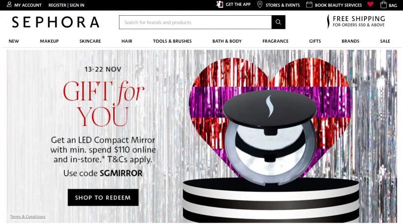 Sephora Singapore lancia con Atome il servizio 'buy now, pay later'