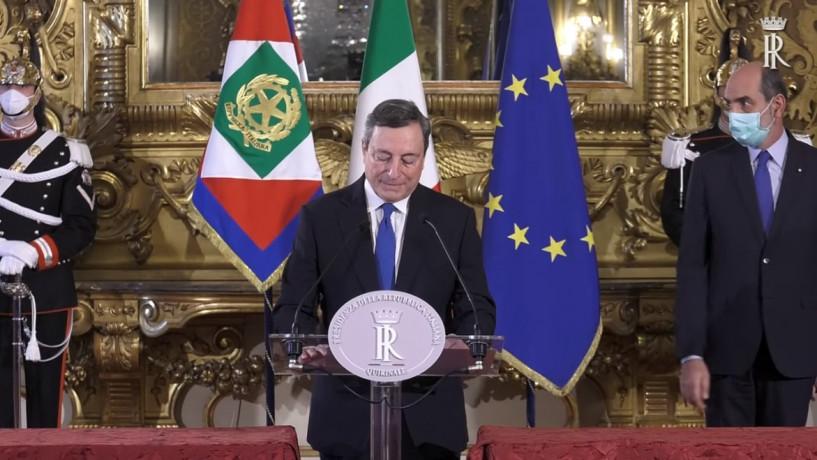 """Draghi, """"servono risposte all'altezza della situazione, sguardo attento a futuro giovani e a coesione sociale"""""""