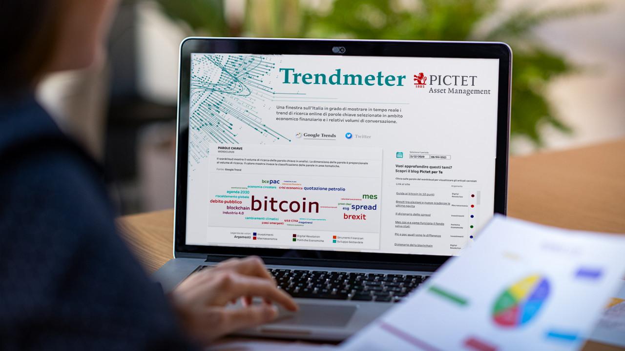 Con Trendmeter di Pictet le tematiche più 'calde' in rete in ambito economico - finanziario