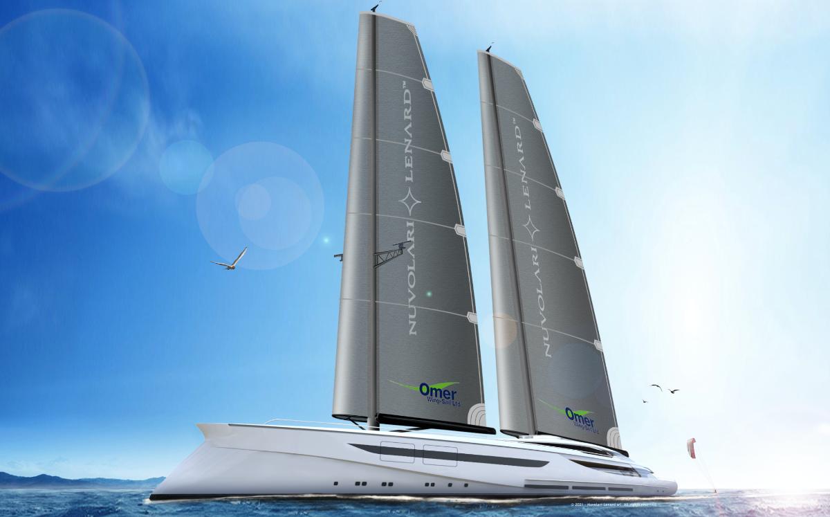 Nuvolari Lenard porta NL 285 ' Vento' al Salone Nautico di Venezia, mega sailer di 100 metri