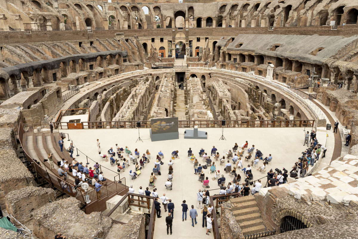 Thanks to the Tod's Group support, the second phase of Colosseum's restoration is completed