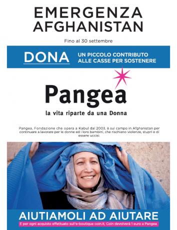 Afghanistan, Coin in campo a fianco di Pangea per le donne afghane